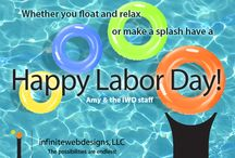 Social Media Marketing Images – Labor Day Edition / HAPPY LABOR DAY! Check out our a few of our branded Labor Day social media marketing images that we created for our clients.  Let us create beautiful, branded social media marketing images for your business!  Sign up for our holiday branded marketing package! http://www.infinitewebdesigns.com/labor-day-social-media-marketing/