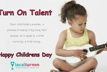 TURN ON TALENT / Every child holds a promise….a promise of making it big living their dreams…all it needs is  a little nurturing. A little tuning..  HAPPY CHILDREN'S DAY !!!