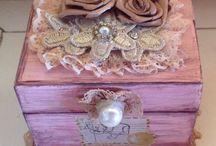Expressando minha arte em madeira. / Caixinha vintage