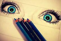Ojos dibujos