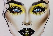 Makeup drawing