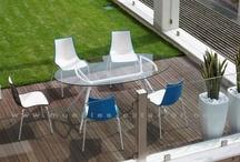 Muebles de terraza / Mobiliario de hosteleria. Muebles de terraza y jardin. Muebles de terraza, Sillas de terraza y jardin para exterior y mesas de terraza de aluminio de todas las formas y medidas para ser usados en restaurantes, hoteles y terrazas de bares.
