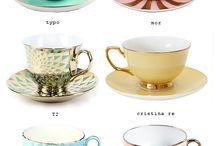 Красивые чашки и посуда