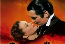 """Gone With The Wind"" :  My most favorite movie of all time!!! / I absolutely love ""Gone With The Wind"" and everything about that era -- the big dresses are amazing!  Vivien Leigh was perfect as ""Scarlett"" to Clark Gable's ""Rhett"".   / by Mandy Bailey"