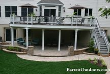 Patio and backyard