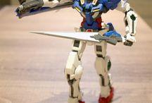 Fighter Exia, Celestial Being Mobile Suit / Modelos de combate similares aos apresentados na animação, animê, Gundam da Bandai em escala 1/100. / by WE ARE COLLECTORS