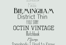 Fonts / by Corrinne Taylor