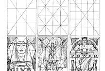 Composicion simetrica pictorica