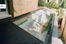 Glass extension roof