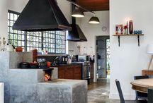 Cozinha com Fogao de lenha