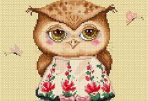 Eulen/Owls Cross Stitch