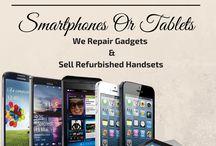 Smartphone & tablet repair and refurbished handsets.