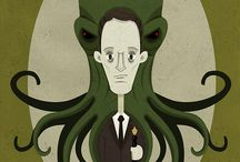"""H. P. Lovecraft / """"Pleasure to me is wonder—the unexplored, the unexpected, the thing that is hidden and the changeless thing that lurks behind superficial mutability."""""""