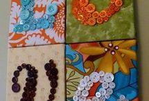 Ideas con Botones y patchwork