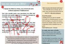 Nouvelle année 2016 / Newsletter pour la nouvelle année 2016