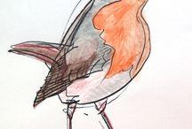 Ria van Donzel-Suppers / schilderen van vogels ....