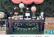 vintage hot air balloon party