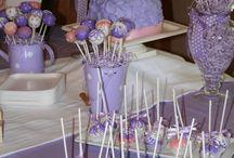 Inspiring Purple baby shower