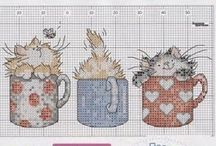 Animal cross stitch- cats / by suzanne st-onge