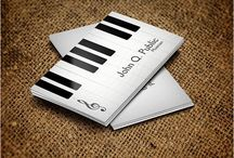 28 Musician Business Card Design You Must See / Business cared need to be attractive and creative to get an immediate attention from the viewers especially musician's cards. Every artist prefers to use their own well designed business cards to organize musical concerts