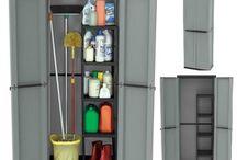 Garden Storage Shed Organize Unit Garage Utility Plastic Cupboard Home/Outdoor