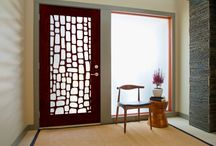 Modern Door Collection / These innovative new entry systems feature our custom decorative millwork or hand & Crestview Doors (crestviewdoors) on Pinterest