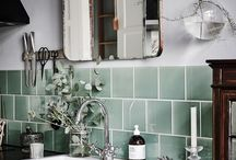 Tile & Silver Fixture Pairings / Kitchens and bathrooms no strangers to silver fixtures--but these tile pairings are sure to get your inspiration flowing.