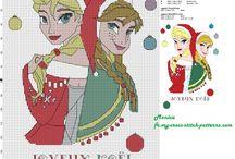 Cross Stitch - Disney - Christmas