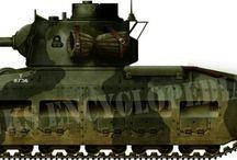 Various British WW2 tanks