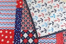 Quilts by HeavenBoundHCA / Quilts in various prints and colors for the littles in your life.  The perfect size for tummy time for infants, nap time for toddlers, and a lap quilt for early childhood.
