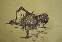 Land(E)scapes / pen on paper