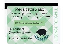 BBQ Party invitations and party supplies