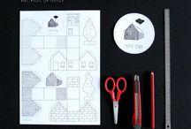 """DIY """"La Ville de Papier"""" """"Paper Town"""" / Cut & play! http://eudelinemoutarde.tictail.com/"""