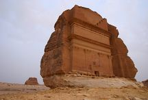 Saudi Arabia : RIYARD , Mecca, Medina , Jeddah , Madain Saleh .( 14 Countries in Middle East ) / Saudi has bordered to Jordan,Yemen.It has the holiest cities for muslim,Mekkah,Medinah . It has the largest reserves oil,exporter in the world,leading role of OPEC.Riyard,the capital city,home of the Saudi.Medinah,site of the Prophet's Mosque.Madain Saleh host to Nabatean ruins,sister city to Petra. Population 26,601,038 est. / by Lindawati Santosa