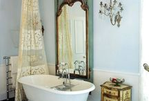 Home: Master Bath / Master Bathroom styling and inspiration.