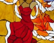 stained glass dancers