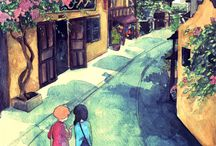 Illustration Vietnam Hoian