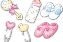 Baby cards, mini albums and ideas / Several ideas for Baby's projects.