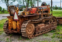 Old earth mover equipment