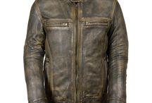 Cafe Racer Triple Stitch Biker Vintage Leather Jacket