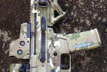 Military gear and guns