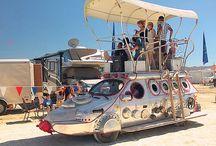 Afrika burn mutant vehicle / Space ship themes to transform car