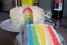 regenboog taarten en cupcakes