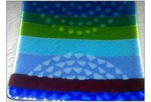Glass Fusing - my pieces / glass plates and bowls I have made.