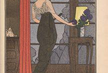Art Deco Fashion / A collection of vintage Art Deco style fashion design images