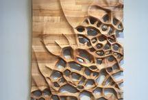 sculpture murale bois