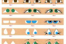 occhi capelli ed altri accessori  per bambole