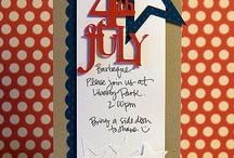 Fourth of July cards / by Sandy Kirbach