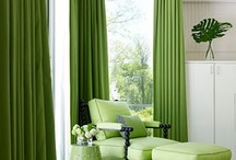 Curtains - green
