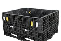 40 x 48 Bulk Containers / 40 x 48 bulk containers are the ideal container for protecting your product during processing, storage, and distribution in a wide variety of industries. Originally designed by the grocery industry as a durable and reusable replacement for wooden pallets, the 40 x 48 bulk container has become the standard for truck trailers and international shipping containers.